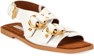 Stella McCartney Faux-Leather Slingback Sandals