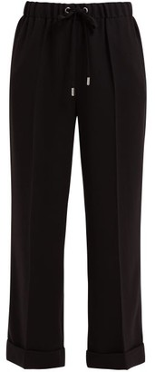 Osman Jackson Wide-leg Crepe Trousers - Womens - Black