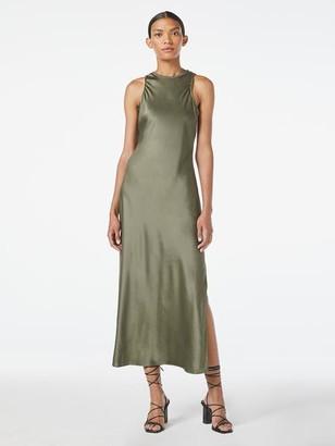 Frame Washable Silk Bias Maxi Dress