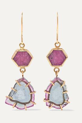 Melissa Joy Manning 14-karat Gold, Tourmaline And Ruby Earrings - one size