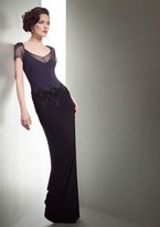 Mignon Mesh Ornate Two-Toned Sheath Dress VM1411