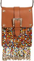 RED Valentino Leather Shoulder Bag W/ Beaded Fringe