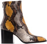 Aeyde Lidia snakeskin-effect boots
