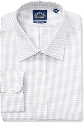 Eagle Men's Size FIT Dress Shirts Non Iron Stretch Collar Check (Big and Tall)