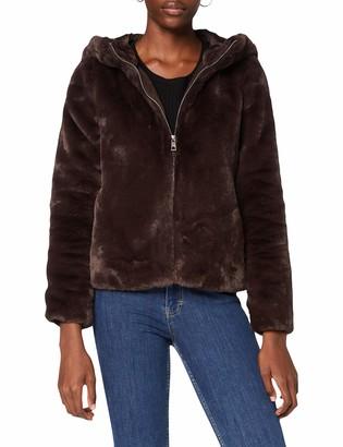 Vero Moda Women's VMTHEA Hoody Short Faux Fur Jacket BOOS