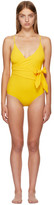 Stella McCartney Yellow Timeless Basics Wrap Swimsuit