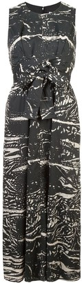 Proenza Schouler White Label PSWL Ink Splash Long Dress