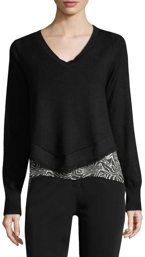 Derek Lam Women's V-Neck Cashmere Sweater