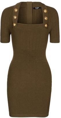 Balmain Ribbed-knit minidress