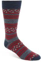 Lorenzo Uomo Men's Aztec Stripe Socks