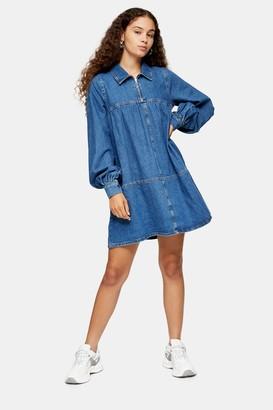 Topshop Mid Blue Denim Babydoll Dress