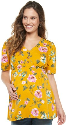 A Glow Maternity a:glow Button Placket Top