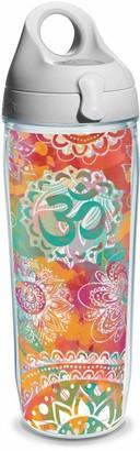 Tervis Yoga Om Pattern Wrap Water Bottle with Grey Water Bath Lid 24 oz
