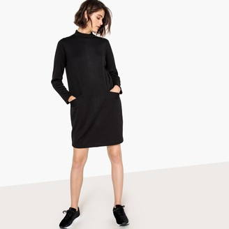 La Redoute Collections High Neck Sweatshirt Dress with Back Zip