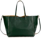 Valentino Rockstud Reversible Tote Bag, Green