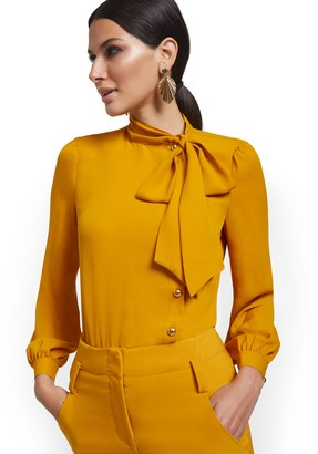 New York & Co. Bow-Neck Blouse