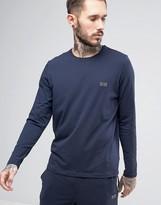 Boss By Hugo Boss Long Sleeve T-shirt In Regular Fit Navy