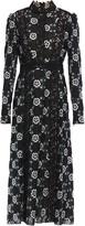 Giambattista Valli Guipure-lace-trimmed Embroidered Crepe Midi Dress