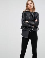 Blank NYC Biker Leather Look Jacket