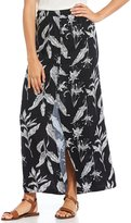 Roxy Speed Of Sound Printed Button Front Maxi Skirt