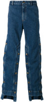 Y/Project Y / Project - decorative button wide-leg jeans - men - Cotton - XXS