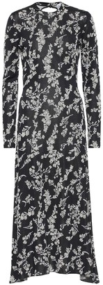 Paco Rabanne Floral jacquard maxi dress