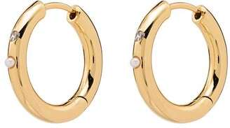 Anni Lu 18kt gold-plated Brigitte pearl hoop earrings