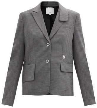 Tibi Auguste Single-breasted Checked Jacket - Grey