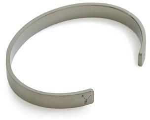 Le Gramme 21g Brushed Black Sterling Silver Ribbon Bracelet