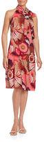Trina Turk Floral Tieneck Sleeveless Dress