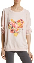 Wildfox Couture Floral-Heart Pullover