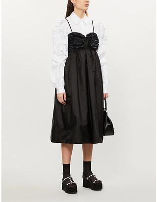 MONCLER GENIUS x Simone Rocha ruffled shell midi dress