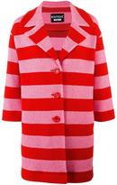 Moschino striped coat - women - Cotton/Polyamide/Acetate/Rayon - 44