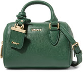 DKNY Mini textured-leather shoulder bag