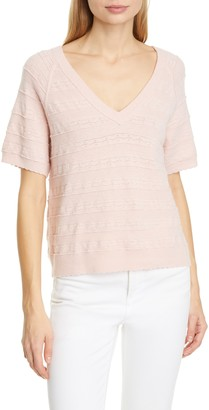 Joie Anoushka Short Sleeve Merino Wool Sweater
