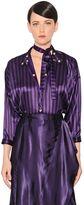 Nina Ricci Striped Light Silk Satin Bodysuit