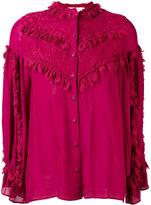 Koche ruffle detail blouse