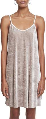 Urban Classics Women's Ladies Velvet Slip Dress Beige 00003 X-Small