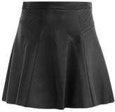 A.L.C. Leather swing skirt