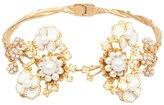 Alexander McQueen floral torque bracelet