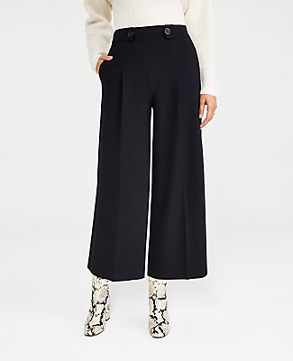 Ann Taylor The Petite Pleated Culotte Pant