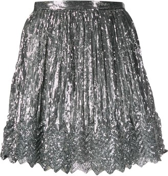 Marco De Vincenzo sequinned mini skirt