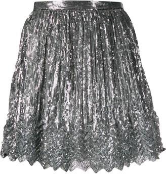 Marco De Vincenzo Sequinned Mini Skirt