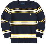 Ralph Lauren Stripe Cotton Crewneck Sweater