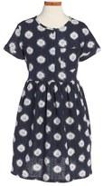 Tea Collection 'Neko' Graphic Woven Dress