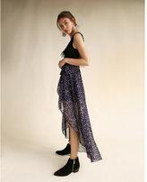 Express high waisted sheer wrap maxi skirt