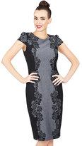 Betsey Johnson Contrasting Flower Midi Dress