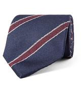 Drakes Drake's - 8cm Striped Silk-jacquard Tie - Navy