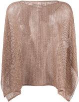 M Missoni - lurex cape jumper -