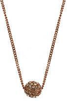 Givenchy Rose Gold Plated and Crystal Fireball Necklace